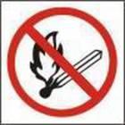 Zákazová bezpečnostní tabulka - Zákaz manipulace s plamenem, plast