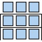 Paletový regál Cell, základní, 210,6 x 270 x 90 cm, 3 200 kg, 2 patra, modrý