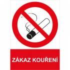 Zákazová bezpečnostní tabulka - Zákaz kouření, 297 x 210 mm, plast