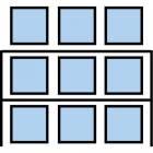 Paletový regál Cell, základní, 336,6 x 270 x 90 cm, 3 200 kg, 2 patra, modrý