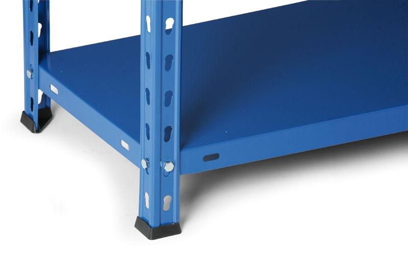 Kovový regál, 75 kg, 2000x800x350 mm, modrý