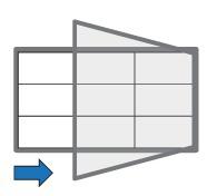 Informační vitrína s textilním povrchem, 900x600 mm