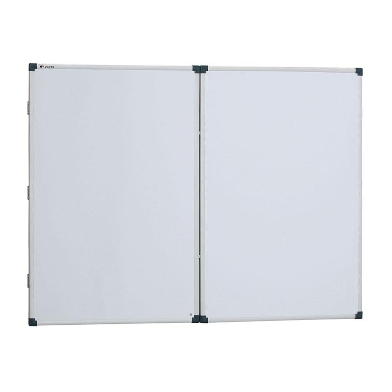 Rozevírací bílá popisovací tabule, 2400 x 900 mm