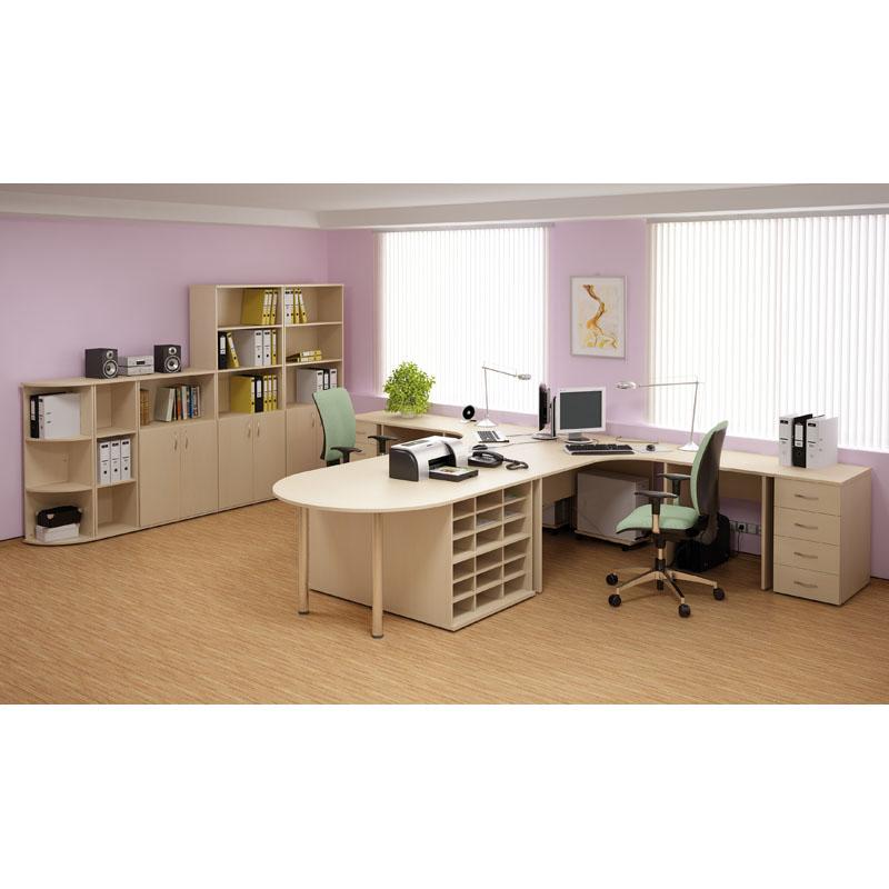 Kancelářský psací stůl, délka 1600 mm, tmavý ořech