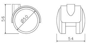 Náhradní díly - Kolečko plastové světle šedé 50 mm (sada 5 ks)