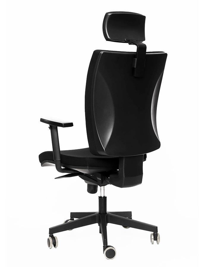 Kancelářské židle Alba - Kancelářská židle Lara VIP černá s podhlavníkem