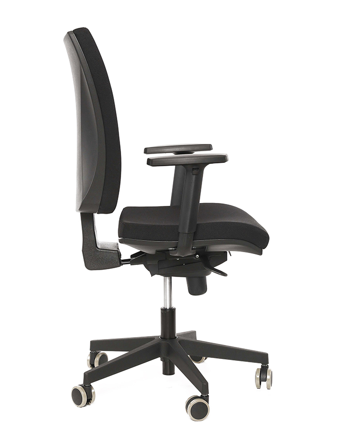 Kancelářská židle Lara VIP černá bez podhlavníku
