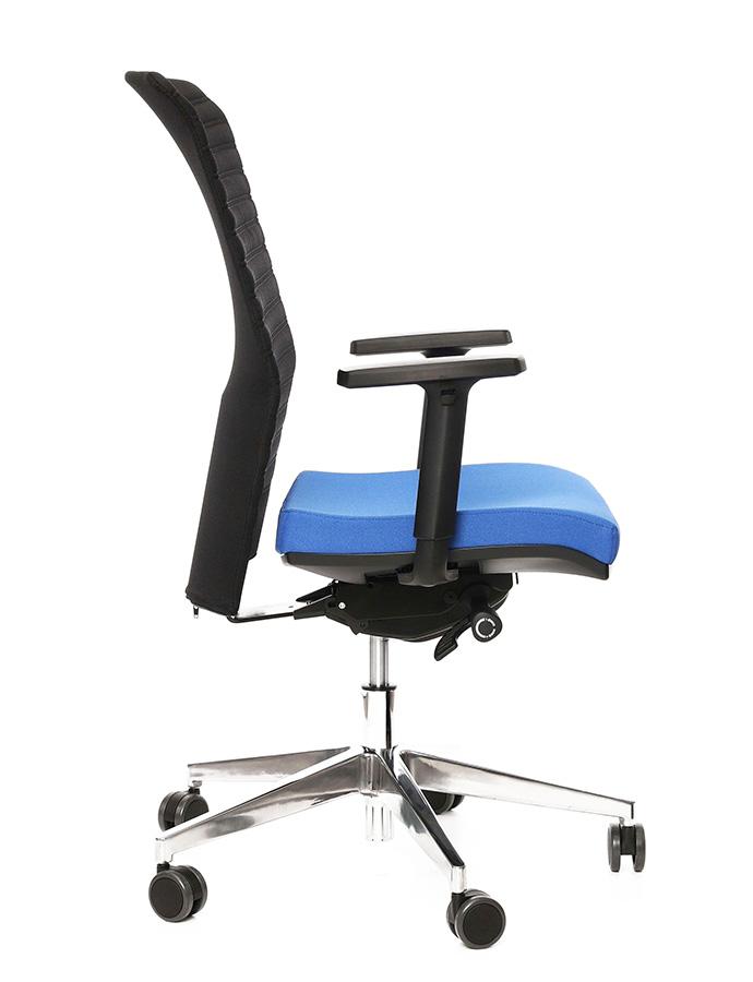 Kancelářské křeslo Alba - Kancelářské křeslo REFIRE modrý