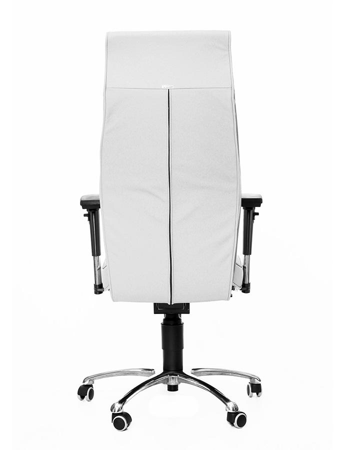 Kancelářské křeslo 1800 Lei bílá kůže
