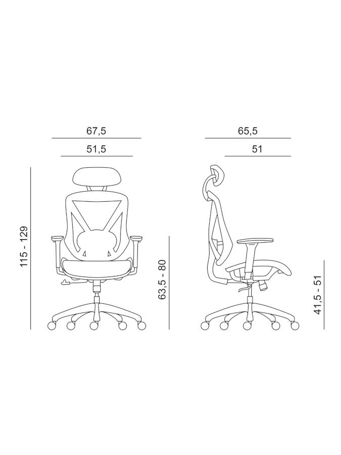 Kancelářské židle Antares - Kancelářská židle Scope