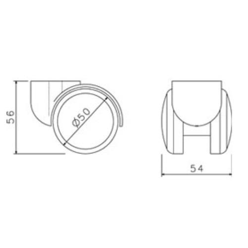 Náhradní díly - Plastové kolečko CB 50 modré 50 mm (sada 5 ks)
