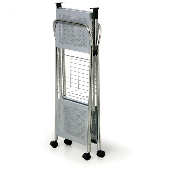 Skládací víceúčelový vozík, stříbrnošedý