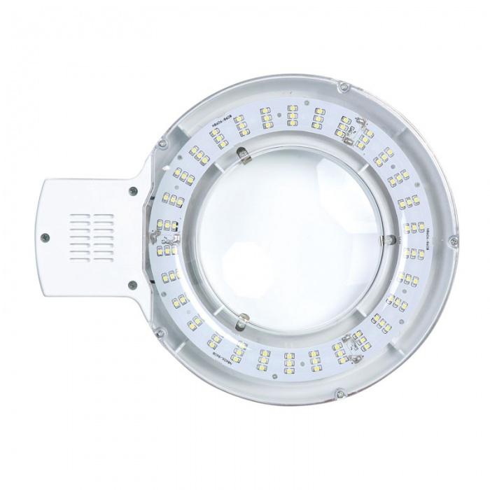 Stolní LED lampa se zvětšovací lupou, bílá