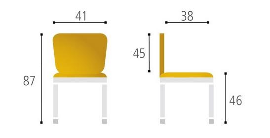 Jídelní židle TINA buk/chrom