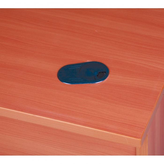 Psací stůl rovný, délka 1600 mm, bříza