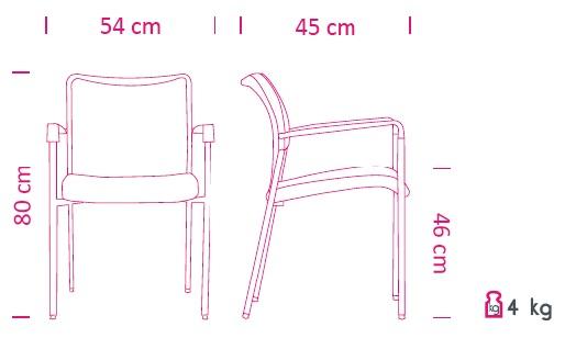 Konferenční židle Sun CR + P