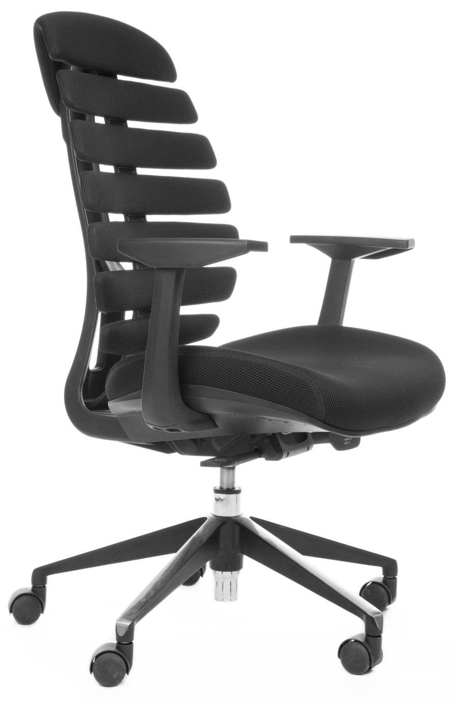 Kancelářská židle Node - Kancelářská židle FISH BONES černý plast