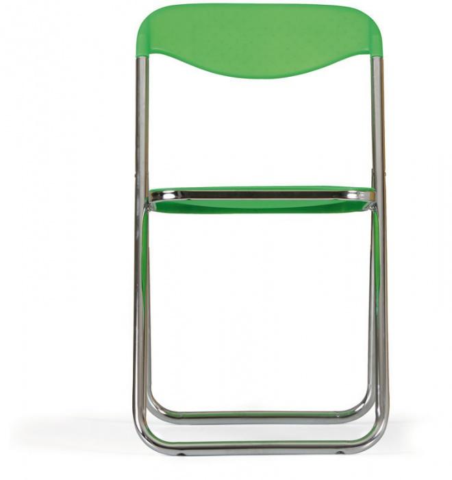 Skládací židle s kovovou chromovanou konstrukcí SÁRA, červená