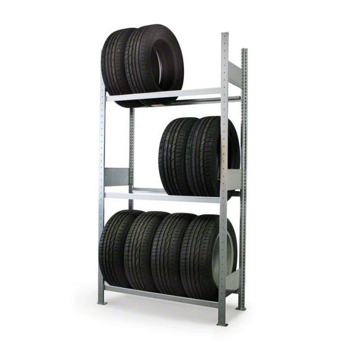 Regál na pneumatiky, 2000x1000x400 mm, základní