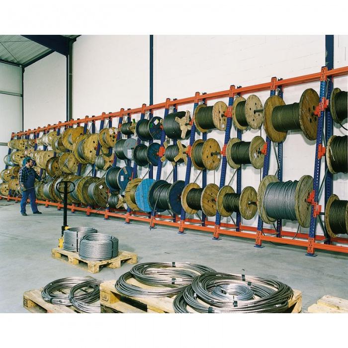 Regály na kabelové bubny, 3300x900x900 mm, přístavný