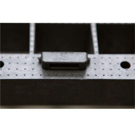 Plastová paleta PICK 10, 1200 x 1000 mm, s ližinami