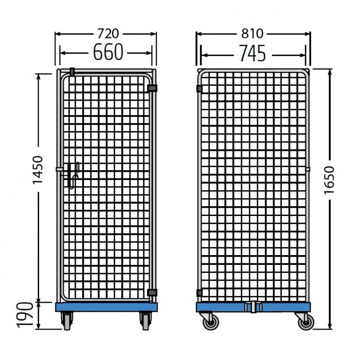 Rollkontejner RC/S1 1650