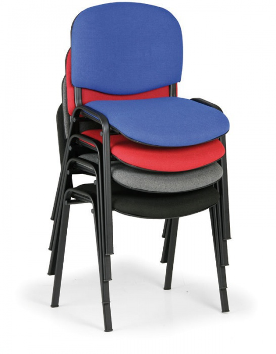Konferenční židle VIVA - černé nohy, černá