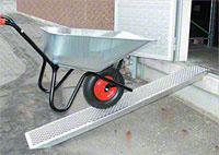 Přímá nájezdova rampa, pár, délka 1500 mm, nosnost 1000 kg