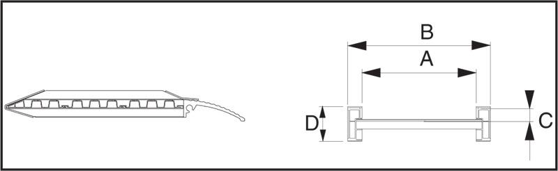 Nájezdová rampa s bočním vedením D70, pár, 1500x300 mm, stopa min. 150 mm