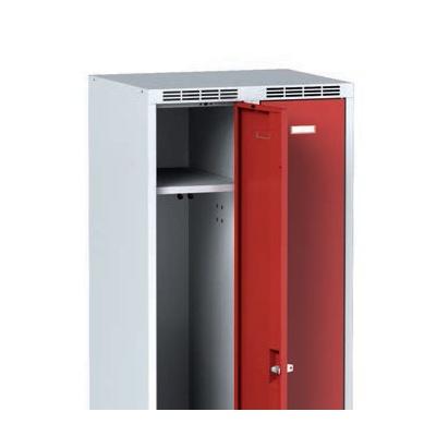 Šatní skříňka s lavičkou, antracitové dveře, otočný zámek