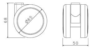 Kolečko TREND 65 mm pogumované (sada 5 ks)