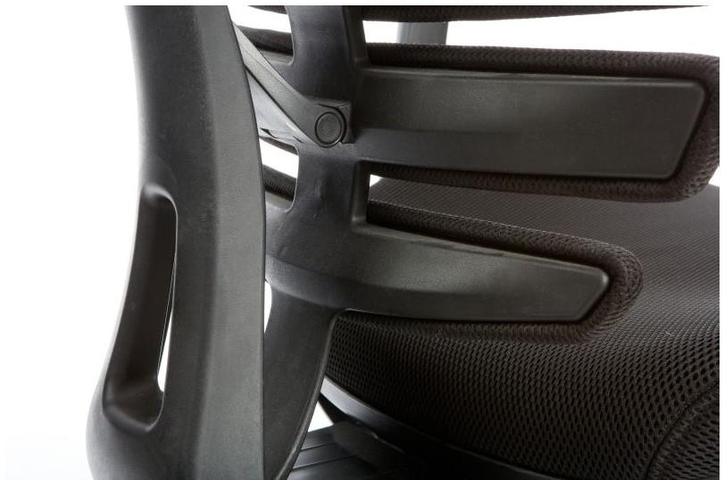 Kancelářská židle Node - Kancelářská židle FISH BONES černý plast, černá látka 26-60