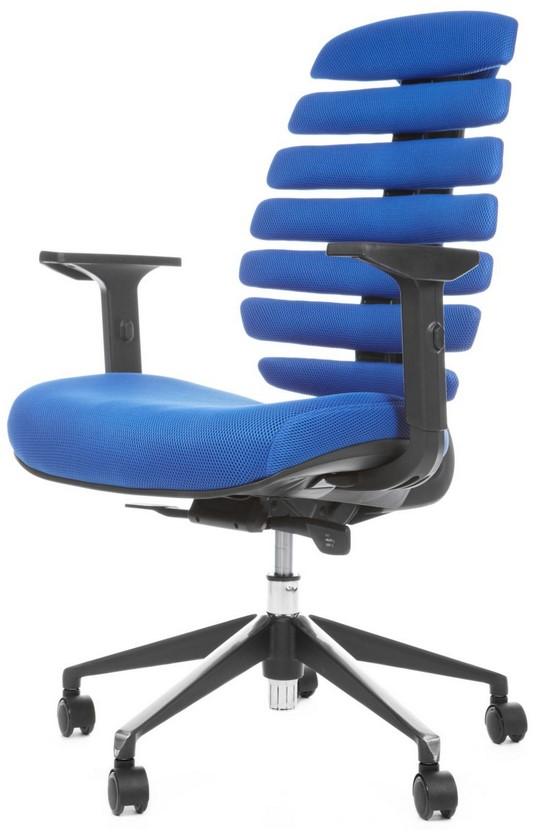 Kancelářská židle Node - Kancelářská židle FISH BONES černý plast, modrá látka TW10