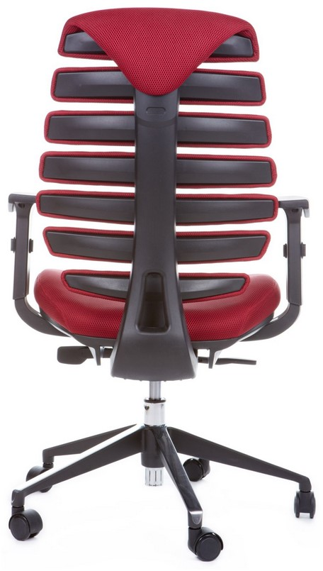Kancelářská židle Node - Kancelářská židle FISH BONES černý plast, vínová látka TW13