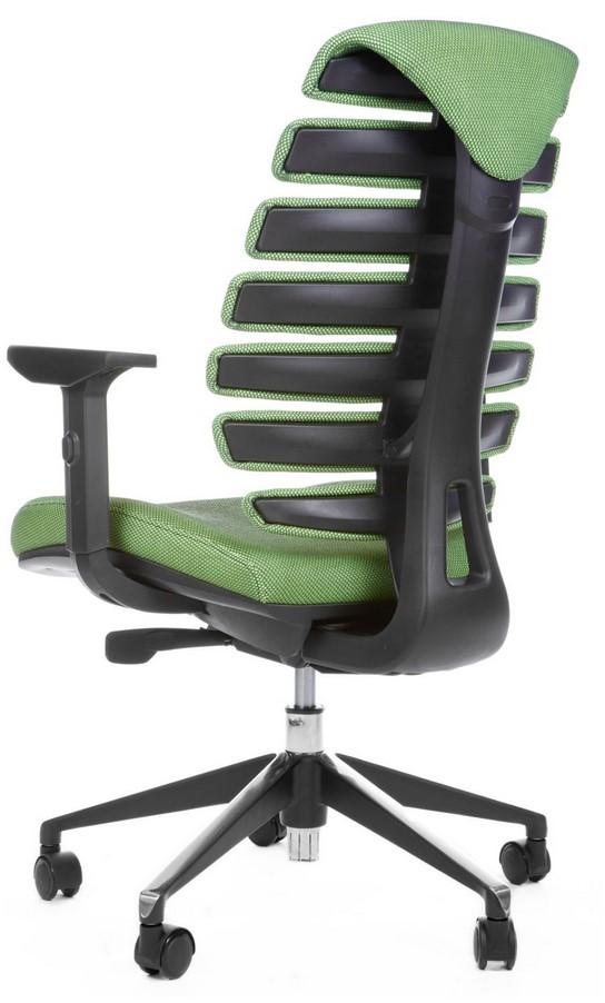 Kancelářská židle Node - Kancelářská židle FISH BONES černý plast, zelená látka SH06