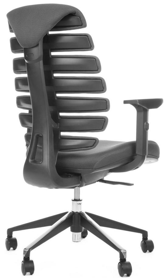 Kancelářská židle Node - Kancelářská židle FISH BONES černý plast, šedá látka TW12
