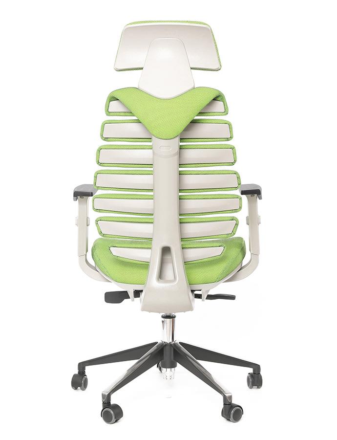 Kancelářská židle Node - Kancelářská židle FISH BONES PDH, zelená látka SH06
