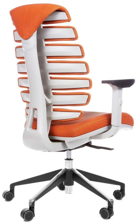 Kancelářská židle Node - Kancelářská židle FISH BONES šedý plast, oranžová látka SH05