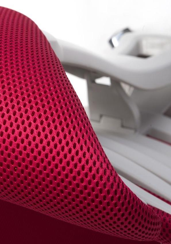 Kancelářská židle Node - Kancelářská židle FISH BONES šedý plast, vínová látka