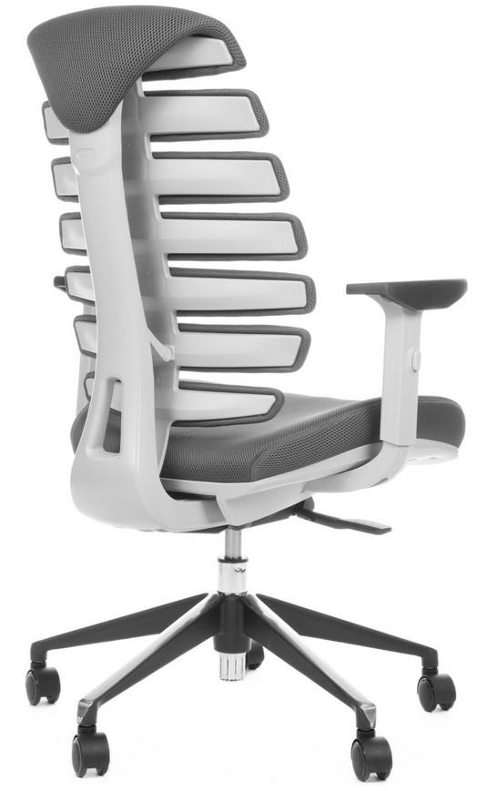 Kancelářská židle Node - Kancelářská židle FISH BONES šedý plast, šedá látka TW12