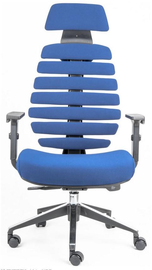 Kancelářská židle Node - Kancelářská židle FISH BONES PDH černý plast, modrá látka 26-67