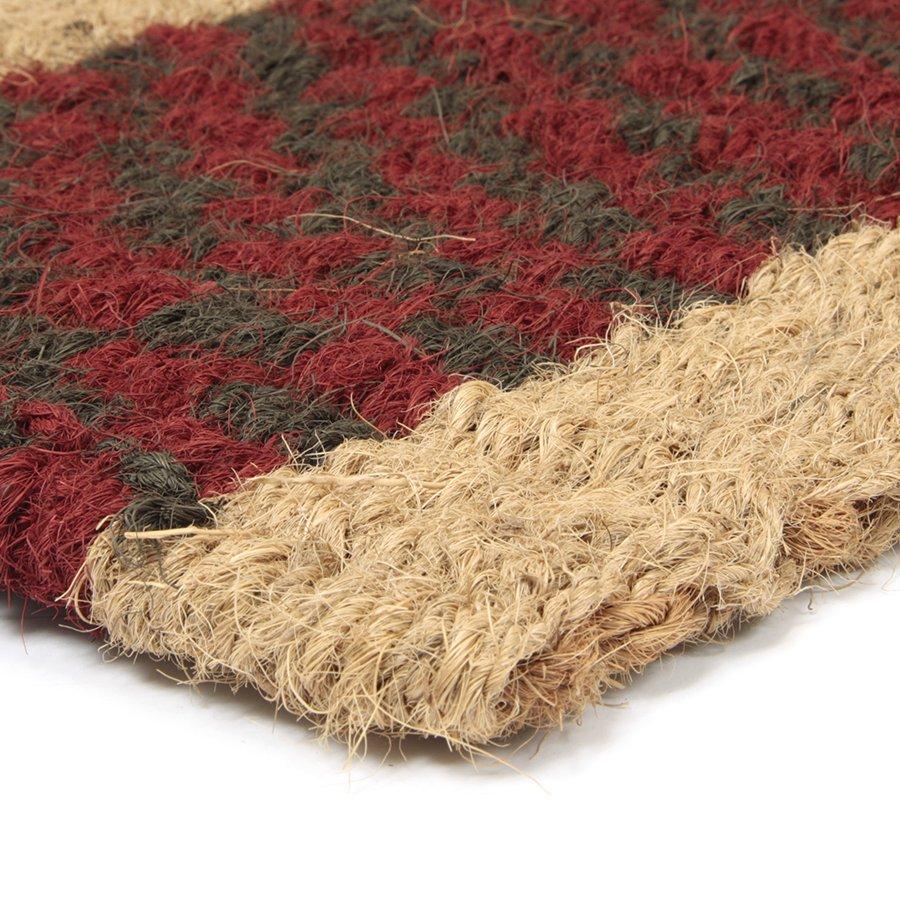 Kokosová vstupní rohož Colored Stripe - 60 x 35 x 2,5 cm