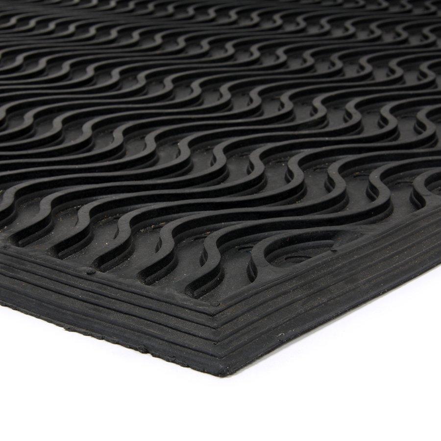 Gumová vstupní čistící děrovaná rohož Waves - 150 x 90 x 1,2 cm