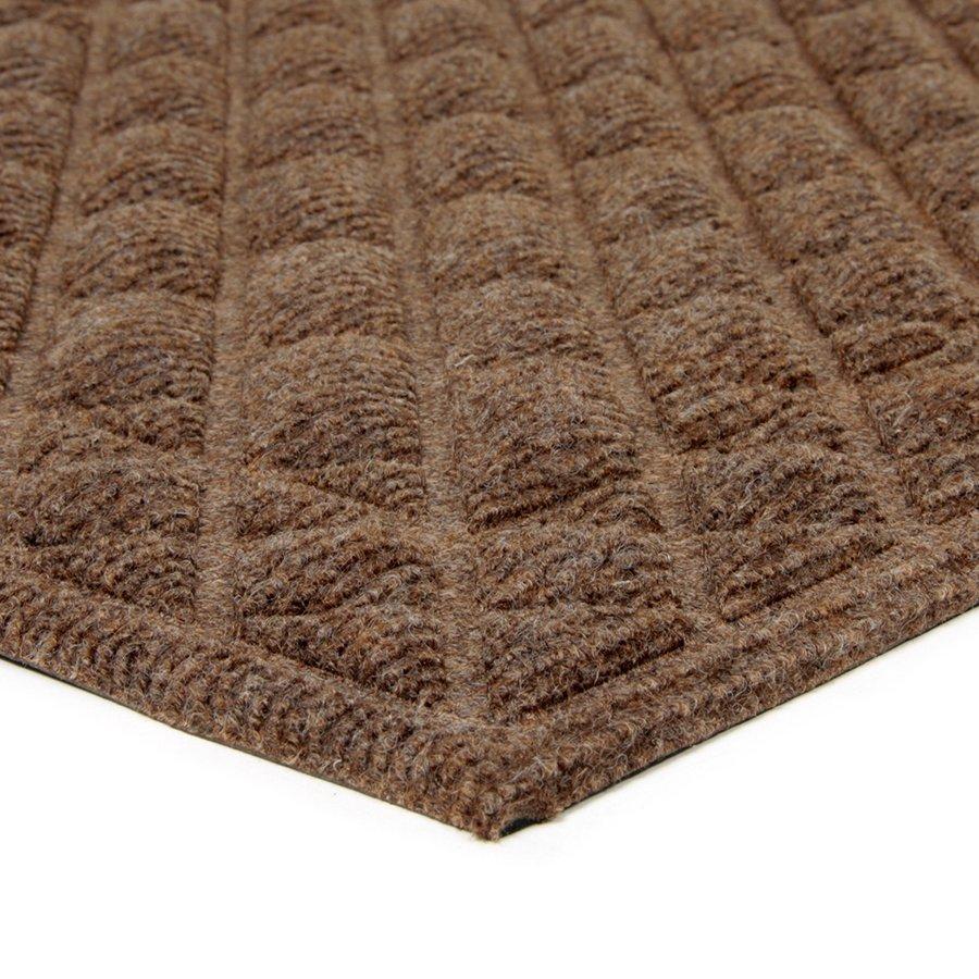Hnědá textilní vstupní rohož Bricks - Squares - 75 x 45 x 1 cm