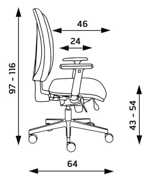 Kancelářské židle Alba - Kancelářská židle Lara
