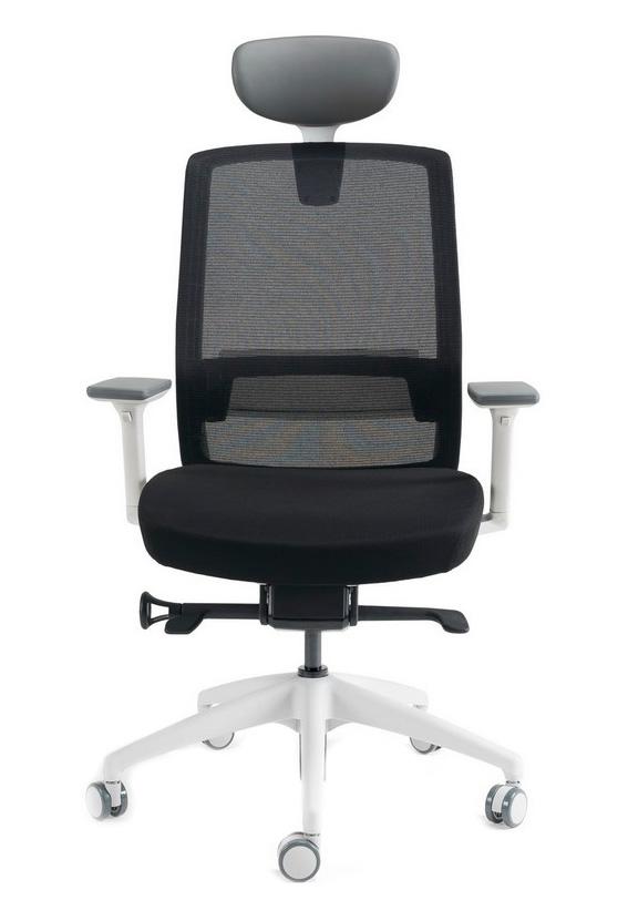Kancelářské židle BESTUHL - Kancelářské křeslo J17 bílý plast