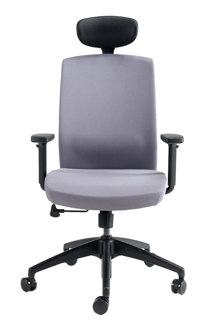 Kancelářské židle BESTUHL - Kancelářské křeslo J2 ECONOMIC černý plast