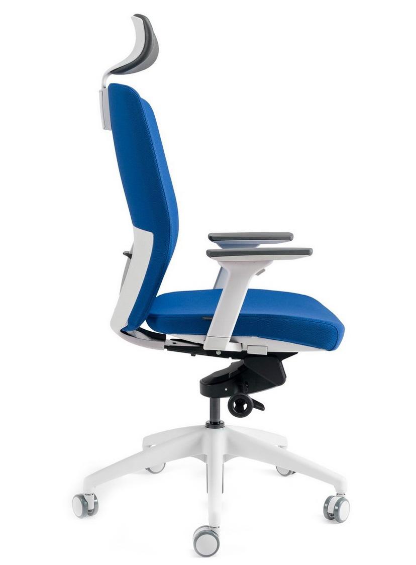 Kancelářské židle BESTUHL - Kancelářské křeslo J2 SERIES bílý plast