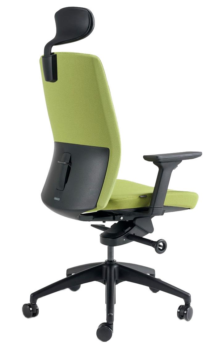 Kancelářské židle BESTUHL - Kancelářské křeslo J2 SERIES černý plast