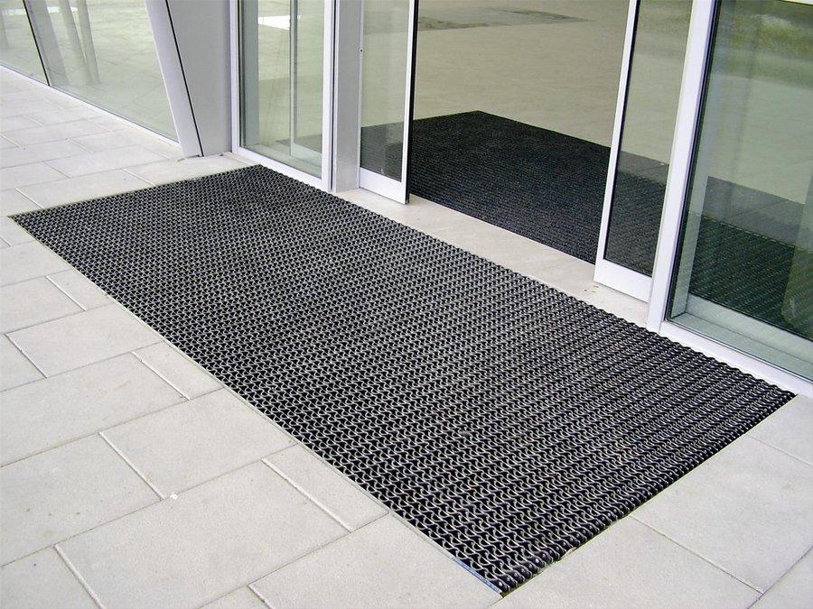 Hliníková gumová čistící venkovní vstupní rohož Alu Wave - 80 x 120 x 2,2 cm